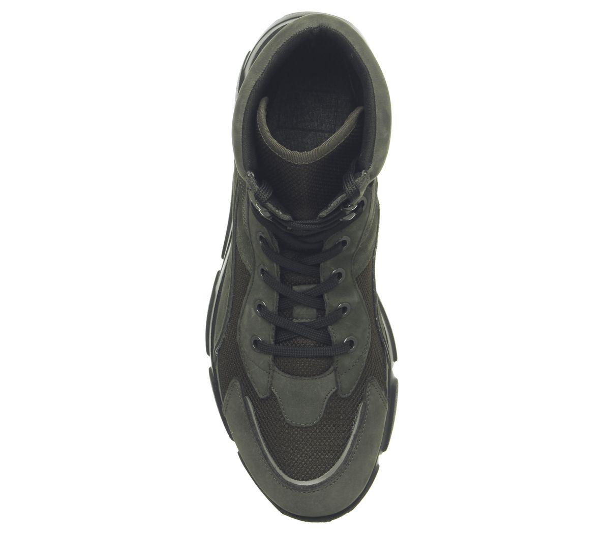 Hommes-Ask-The-Missus-Lignee-Baskets-Hi-Kaki-Daim-Decontracte-Chaussures miniature 10