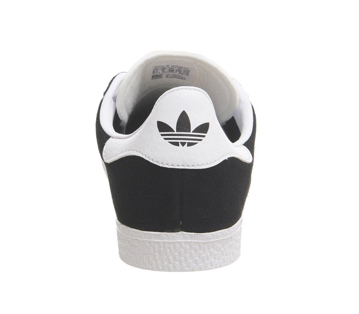 Womens-Adidas-Gazelle-Jnr-Trainers-Core-Black-Trainers-Shoes thumbnail 8