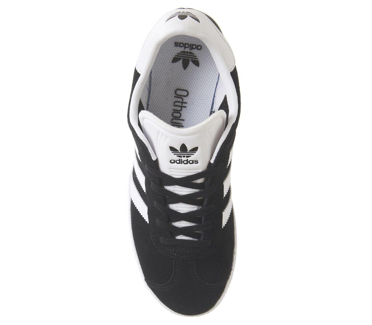 Womens-Adidas-Gazelle-Jnr-Trainers-Core-Black-Trainers-Shoes thumbnail 10