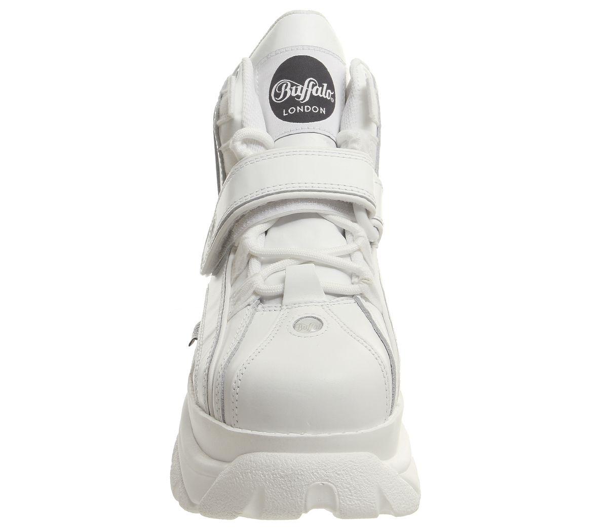 Womens-Buffalo-Buffalo-Classic-High-Sneakers-White-Trainers-Shoes thumbnail 8