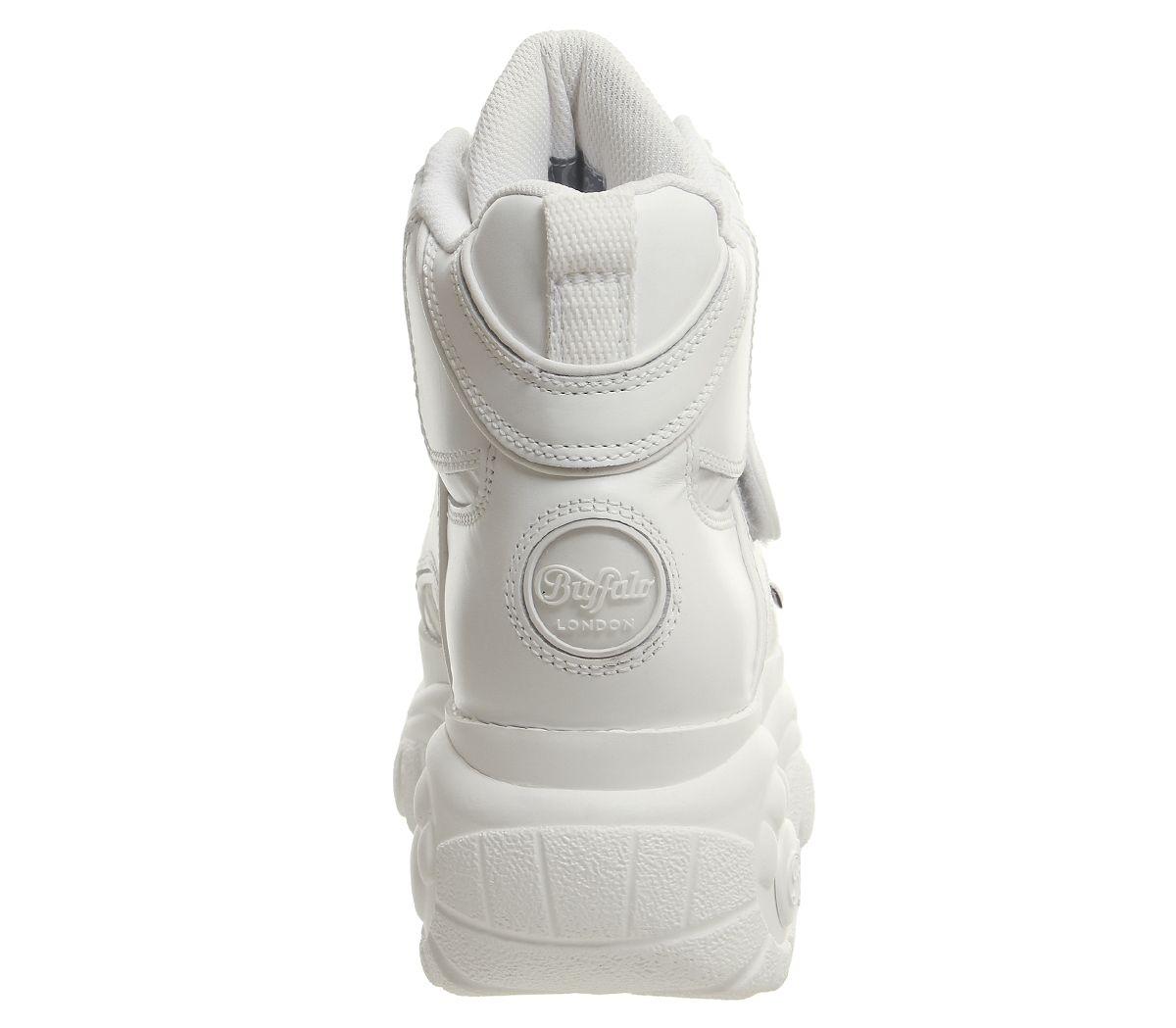 Womens-Buffalo-Buffalo-Classic-High-Sneakers-White-Trainers-Shoes thumbnail 10