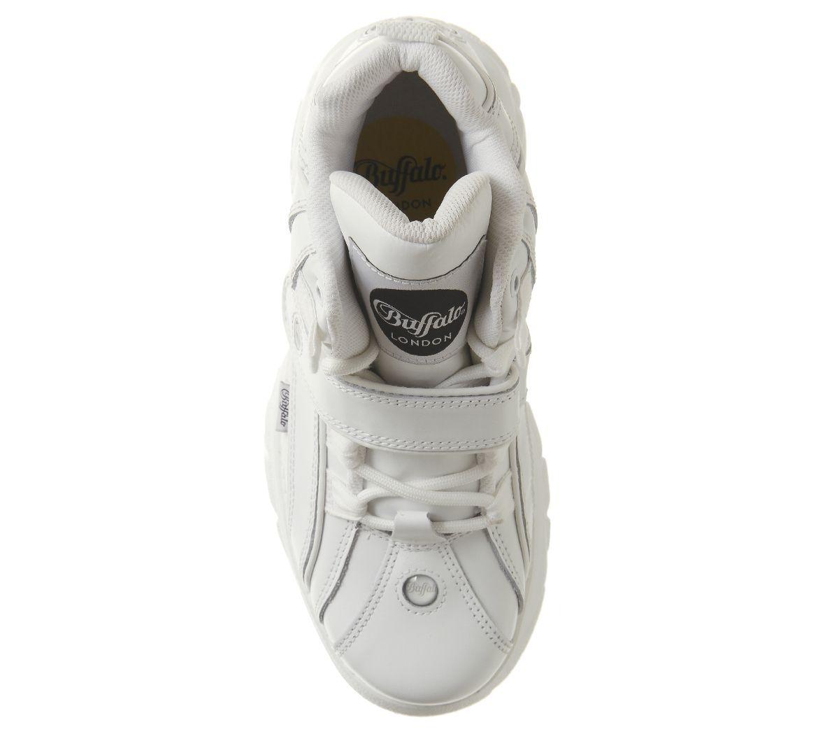 Womens-Buffalo-Buffalo-Classic-High-Sneakers-White-Trainers-Shoes thumbnail 12