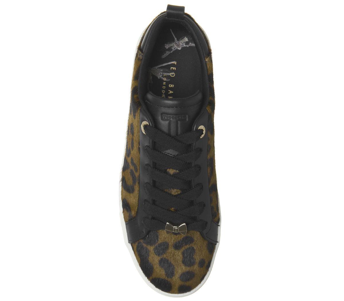 6d6fcb5da8 Dettagli su Da Donna Ted Baker elzseel Scarpe da Ginnastica Leopardata  Scarpe Basse- mostra il titolo originale