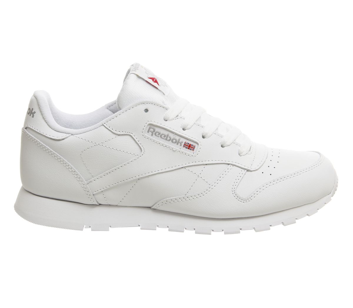 new product 18de4 aa251 Sentinel Womens Reebok Classic Leather Gs Trainers White Trainers Shoes