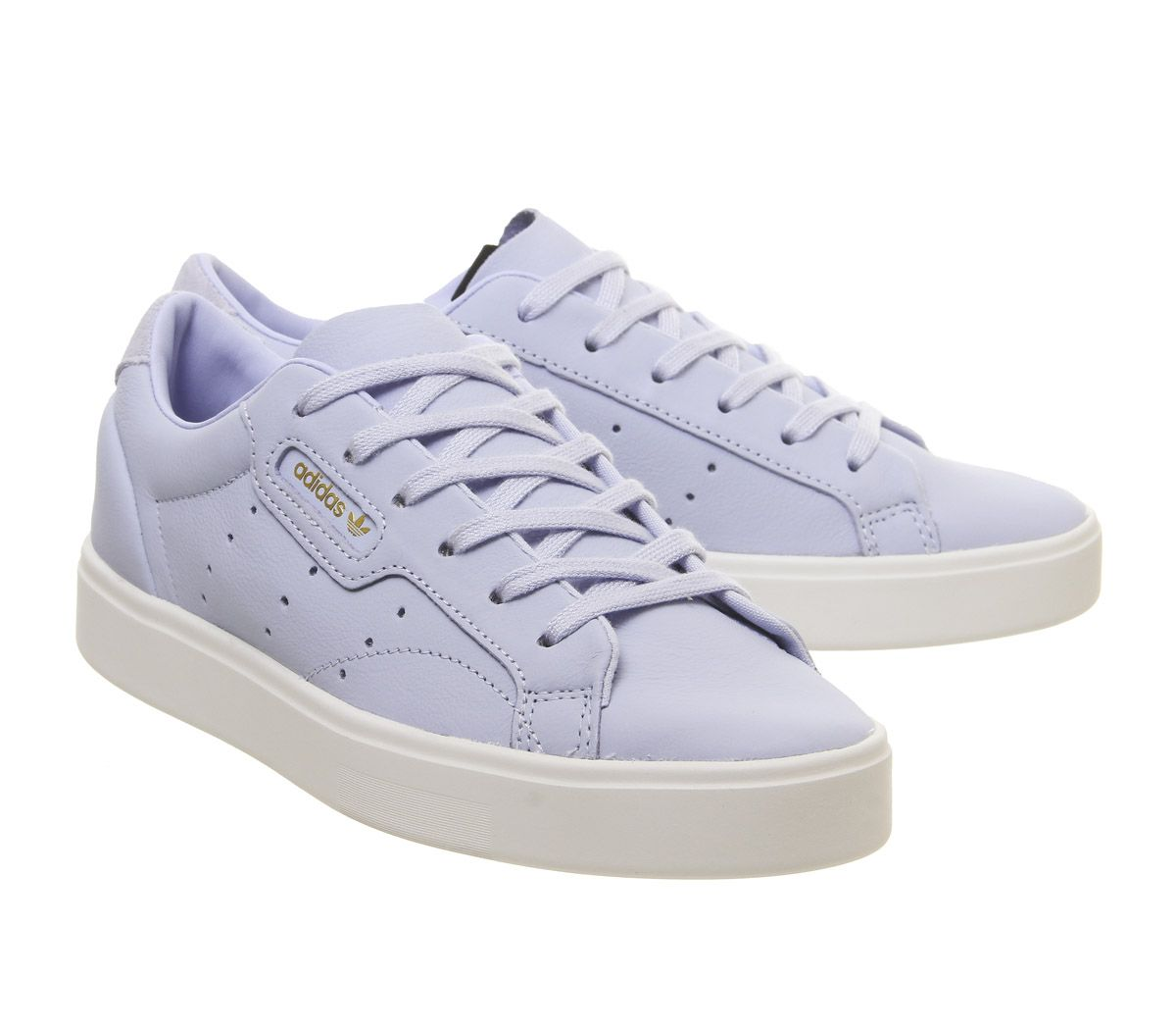 40109a99 Sentinel Womens Adidas Sleek Trainers Periwinkle Crystal White Trainers  Shoes