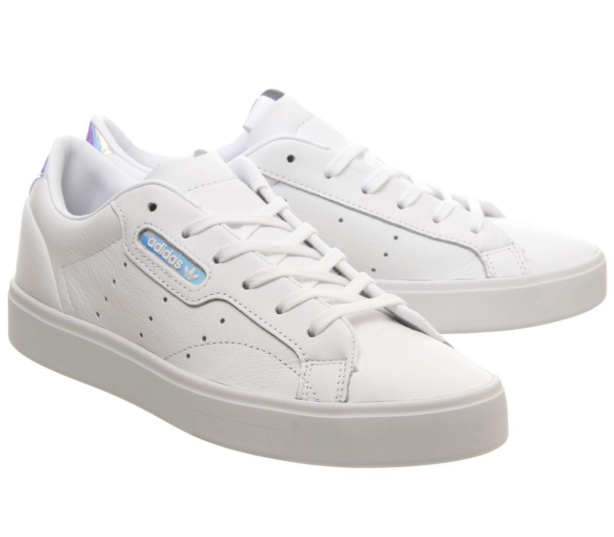 Short-femme-Adidas-sleek-Baskets-Blanc-irise-Exclusive-Trainers-Shoes miniature 7