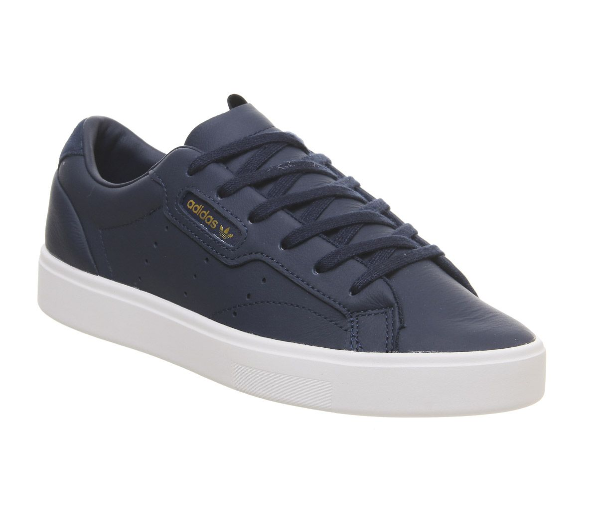 Details about Womens Adidas Sleek Trainers Collegiate Navy Crystal White Trainers Shoes
