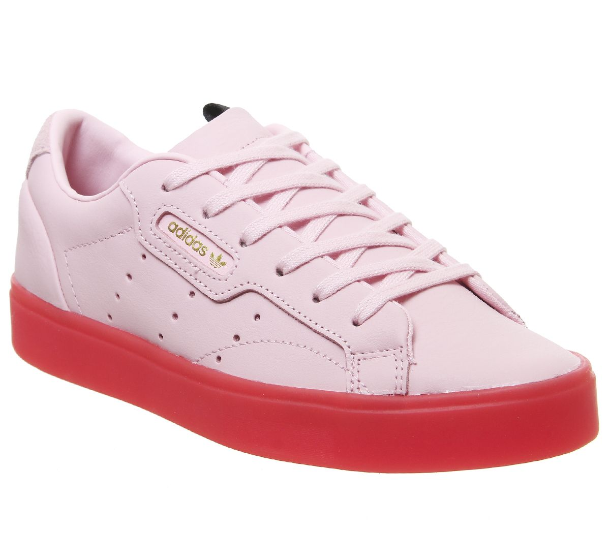 Details about Womens Adidas Sleek Trainers Diva Red Trainers Shoes