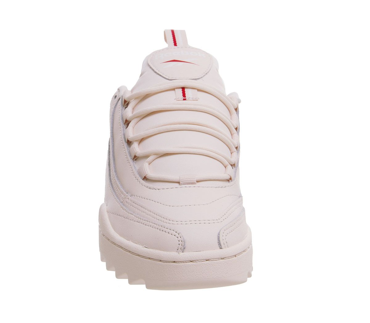 2c11368164e Womens Reebok Rivyx Ripple Trainers Pale Pink White Excellent Red ...