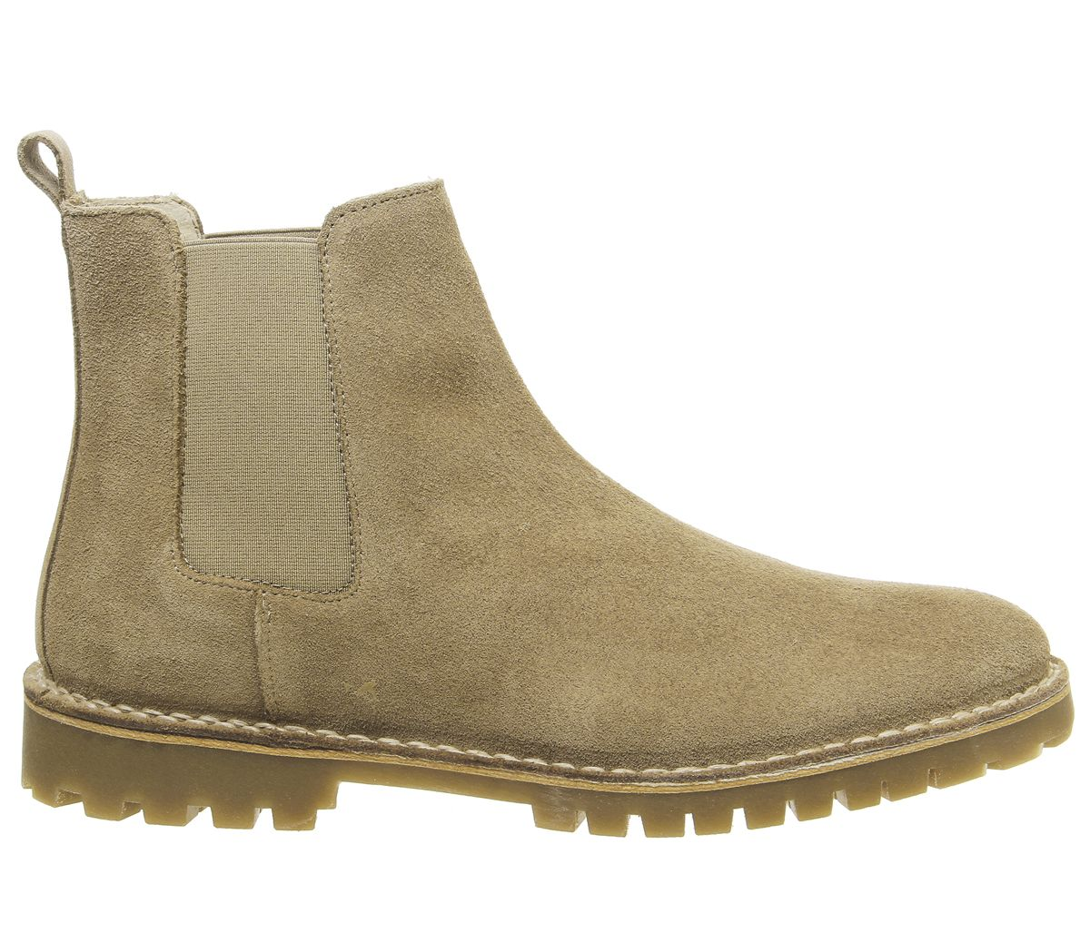 Mens-Office-Impala-Chelsea-Boots-Beige-Suede-Boots thumbnail 4