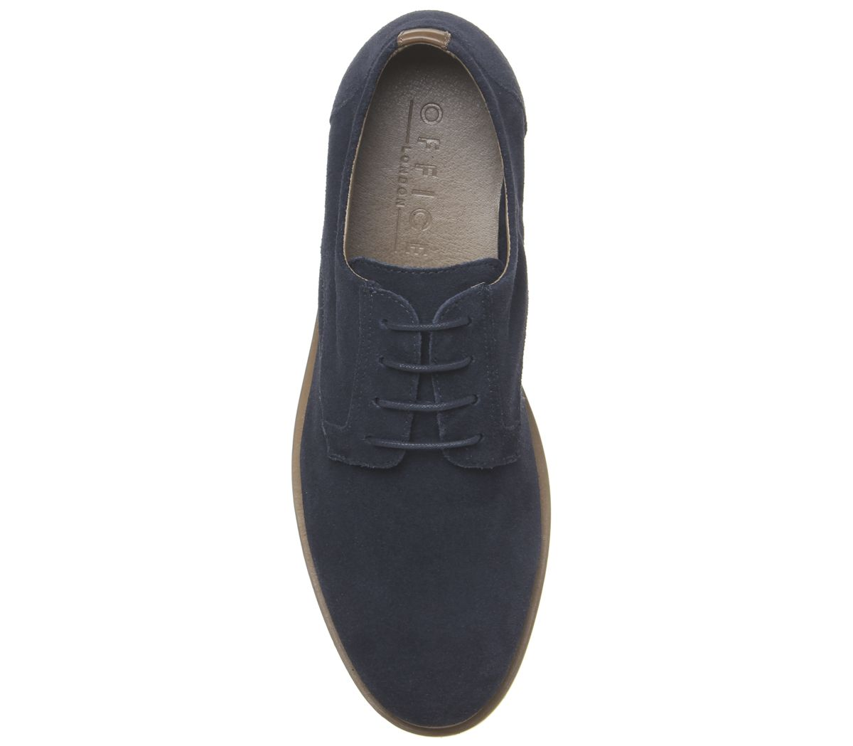 Mens-Office-Item-Derby-Shoes-Navy-Suede-Casual-Shoes thumbnail 10