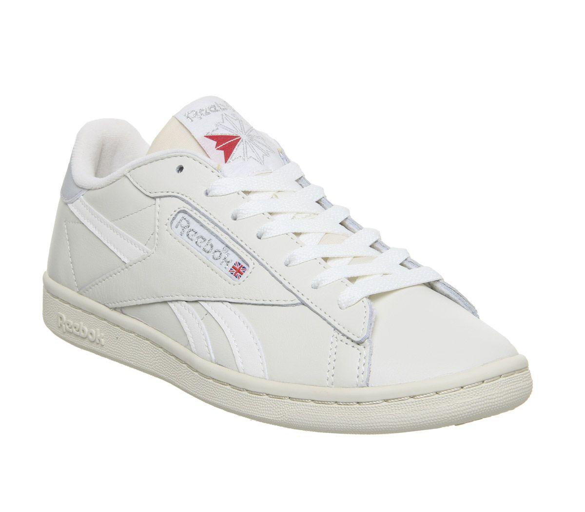 Details zu Damen Reebok Npc UK Turnschuhe Kreide Papier Weiß Grau Turnschuhe