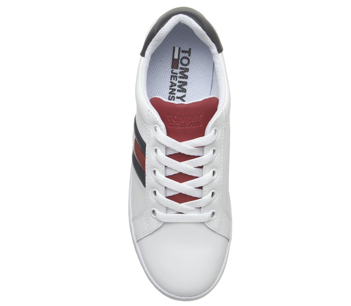 Chaussures Plateforme Femmes Drapeau Blanc Hilfiger Tommy Basket oWBxrdCe