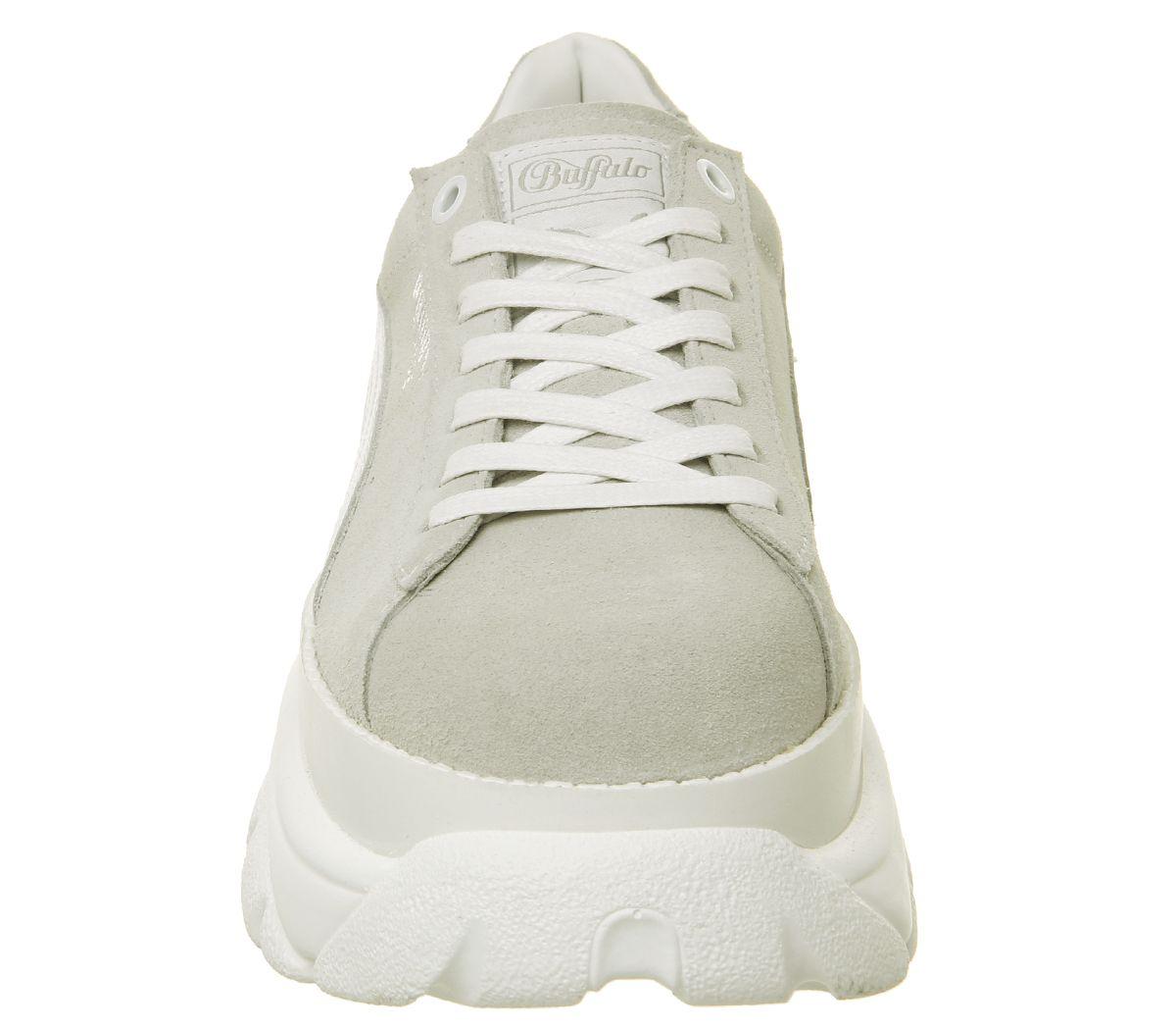 nouveaux styles 62fc9 636d3 Détails sur Chaussures femme PUMA daim Buffalo PUMA Blanc Baskets  Chaussures- afficher le titre d'origine