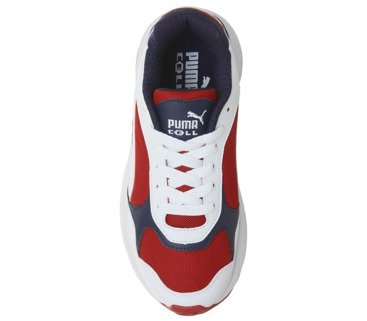Homme-Puma-Cell-Viper-Baskets-PUMA-blanc-Risque-Eleve-Rouge-Baskets miniature 9