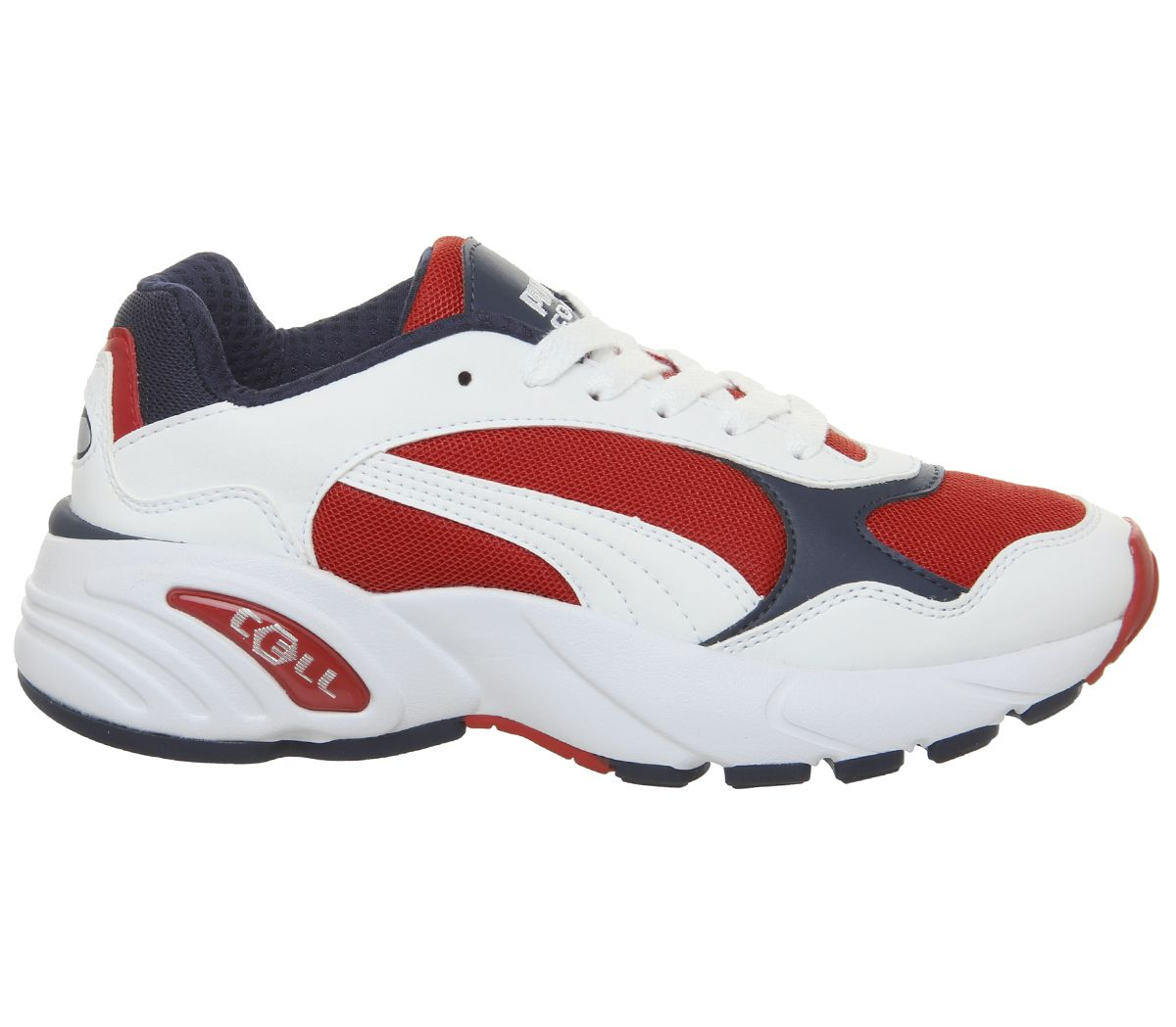 5896c9cd3d Sentinel Womens Puma Cell Viper Trainers Puma White High Risk Red Trainers  Shoes