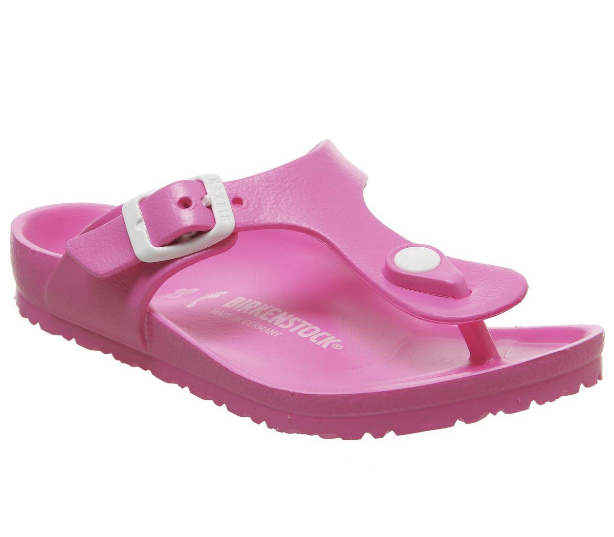 buy popular 9b68a 8a45e Details zu Kinder Birkenstock Gizeh Eva Kinder Sandalen Neon Rosa Kinder