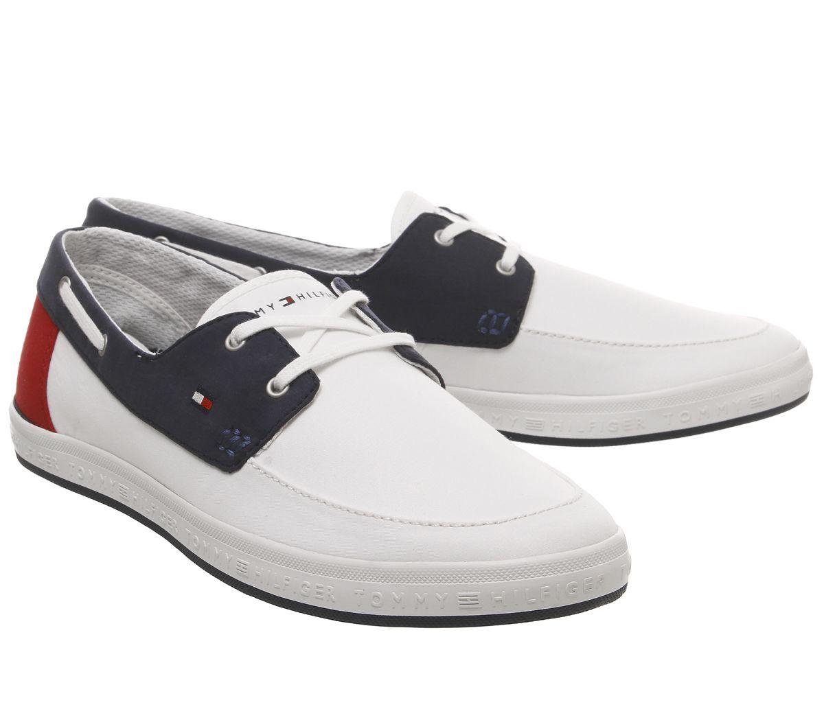 Homme-Tommy-Hilfiger-Howell-Chaussures-Rouge-Blanc-Bleu-chaussures-de-loisirs miniature 7