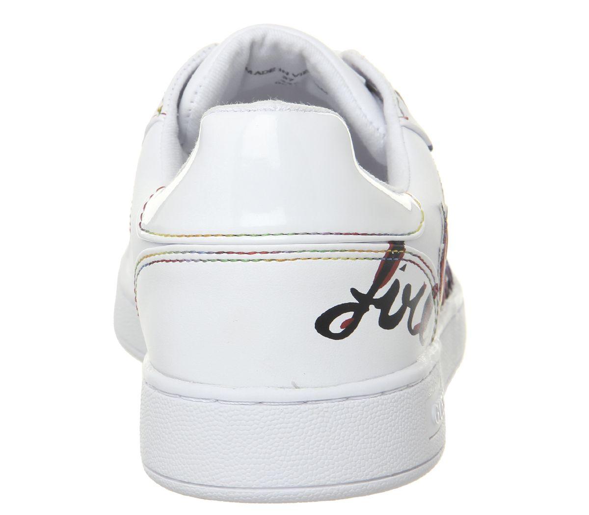 0dbd449c Womens-Guess-Crayz-Logo-Sneakers-White-Multi-Flats thumbnail