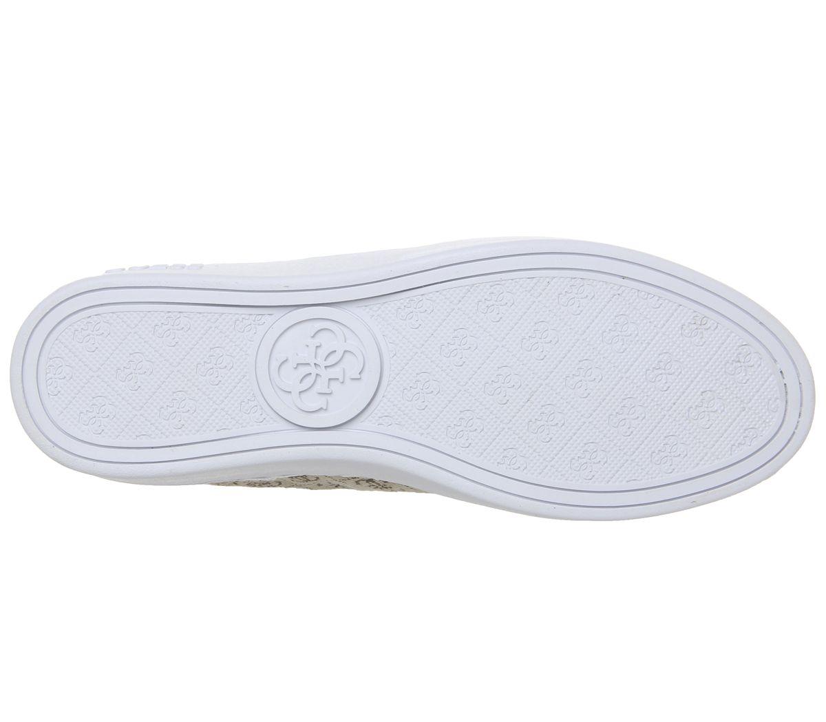aa4732fc Womens Guess Beckie Sneakers Beige Logo Flats | eBay