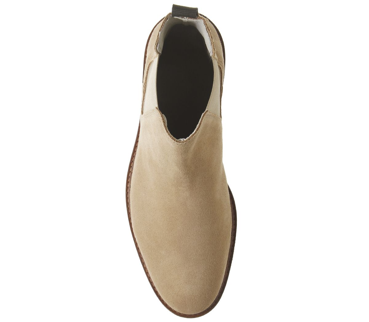 Mens-Office-Locked-Chelsea-Boots-Beige-Suede-Boots thumbnail 10