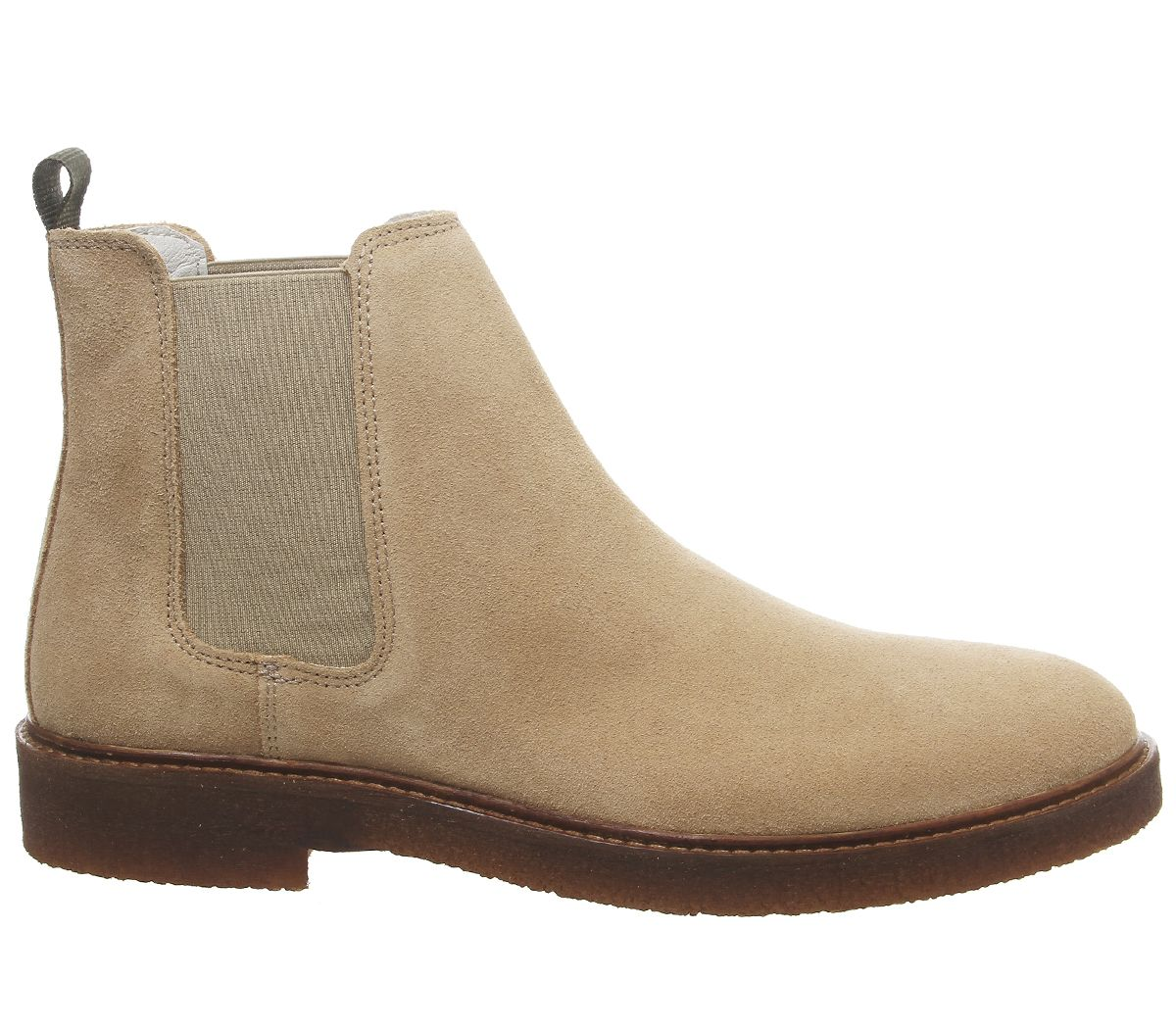 Mens-Office-Locked-Chelsea-Boots-Beige-Suede-Boots thumbnail 4