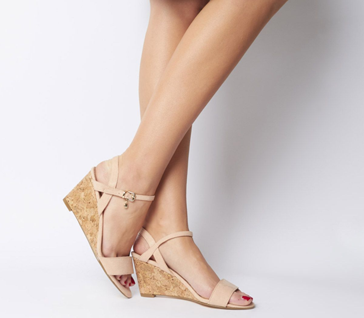 Womens Office Maxima Low Cork Wedges