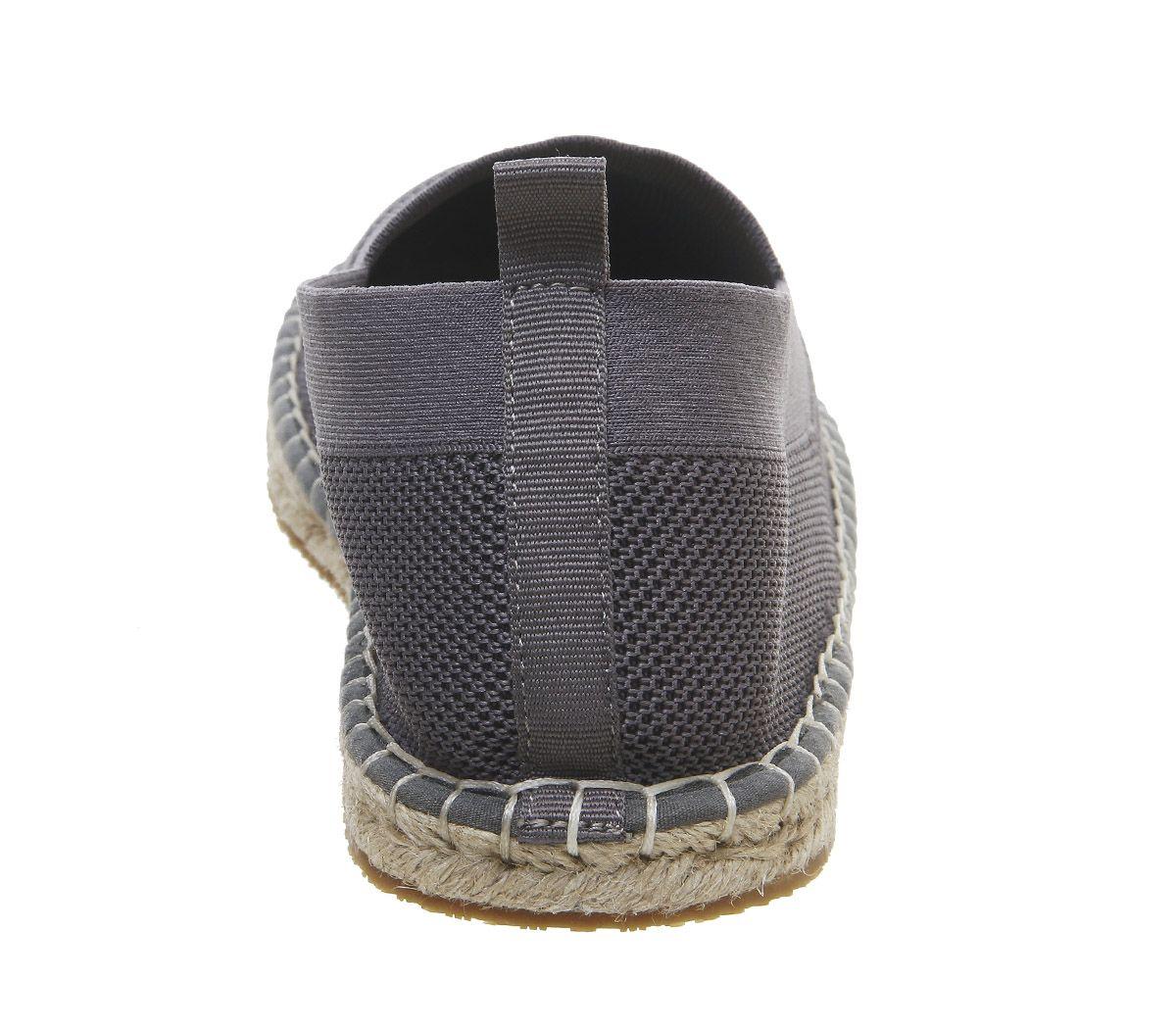 Mens-Office-Lombok-Knit-Espadrilles-Grey-Casual-Shoes thumbnail 4