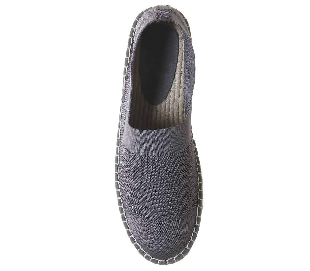Mens-Office-Lombok-Knit-Espadrilles-Grey-Casual-Shoes thumbnail 5