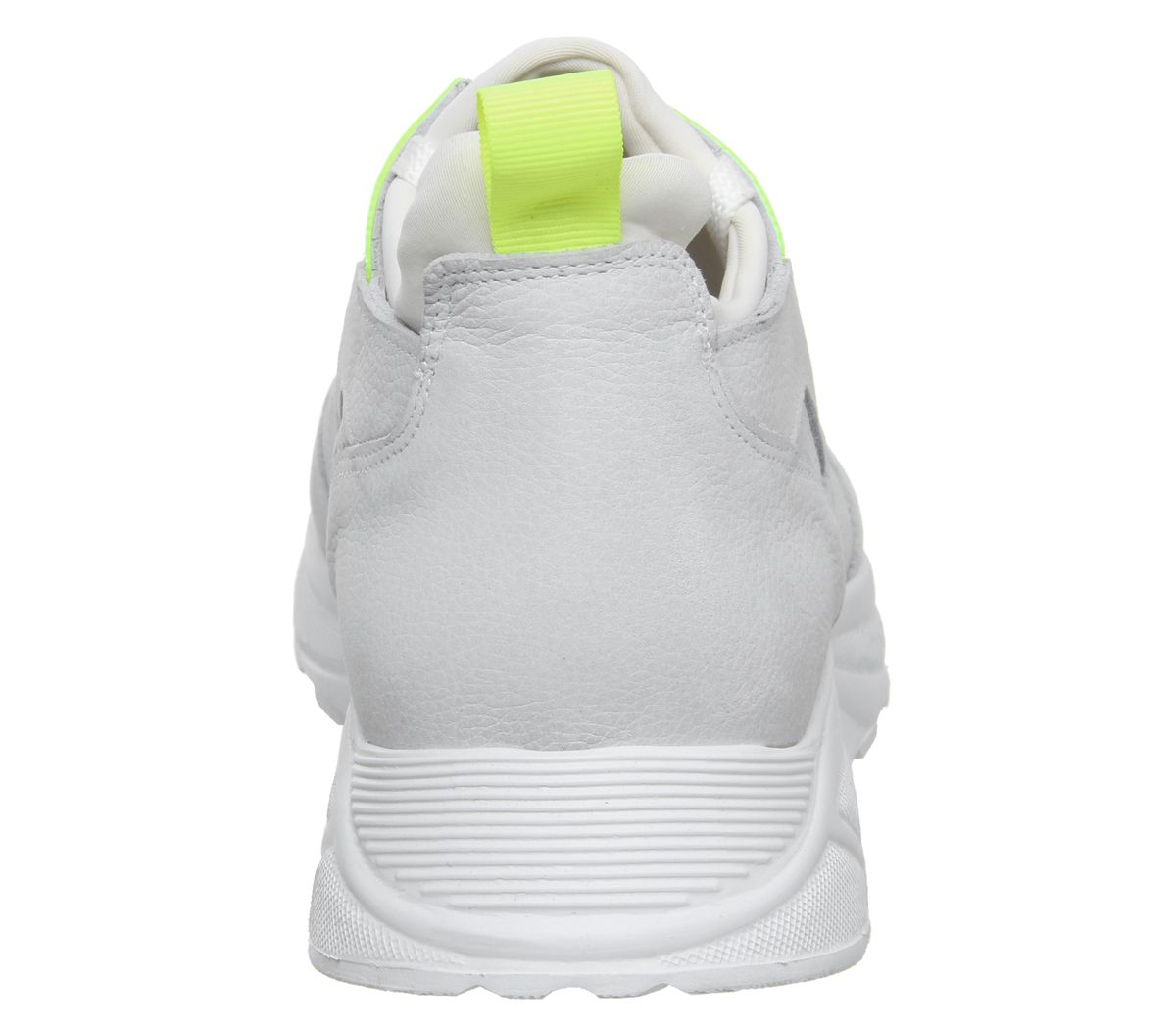 Mens-Office-Lacrosse-Trainers-White-Yellow-Nubuck-Casual-Shoes thumbnail 4
