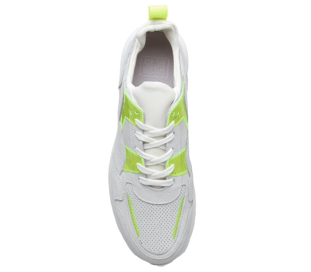 Mens-Office-Lacrosse-Trainers-White-Yellow-Nubuck-Casual-Shoes thumbnail 5
