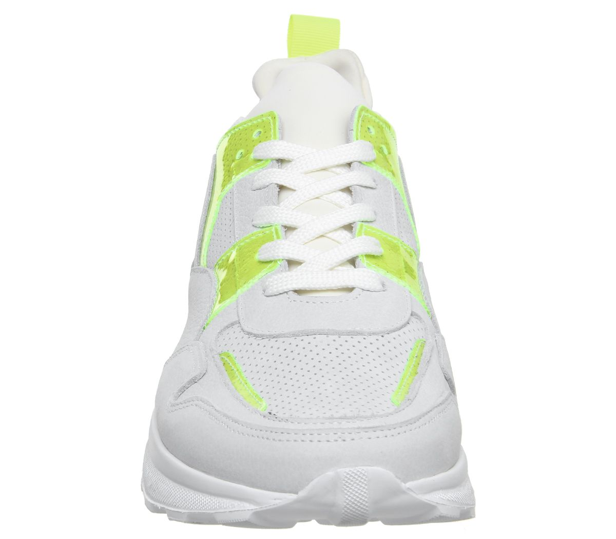 Mens-Office-Lacrosse-Trainers-White-Yellow-Nubuck-Casual-Shoes thumbnail 3