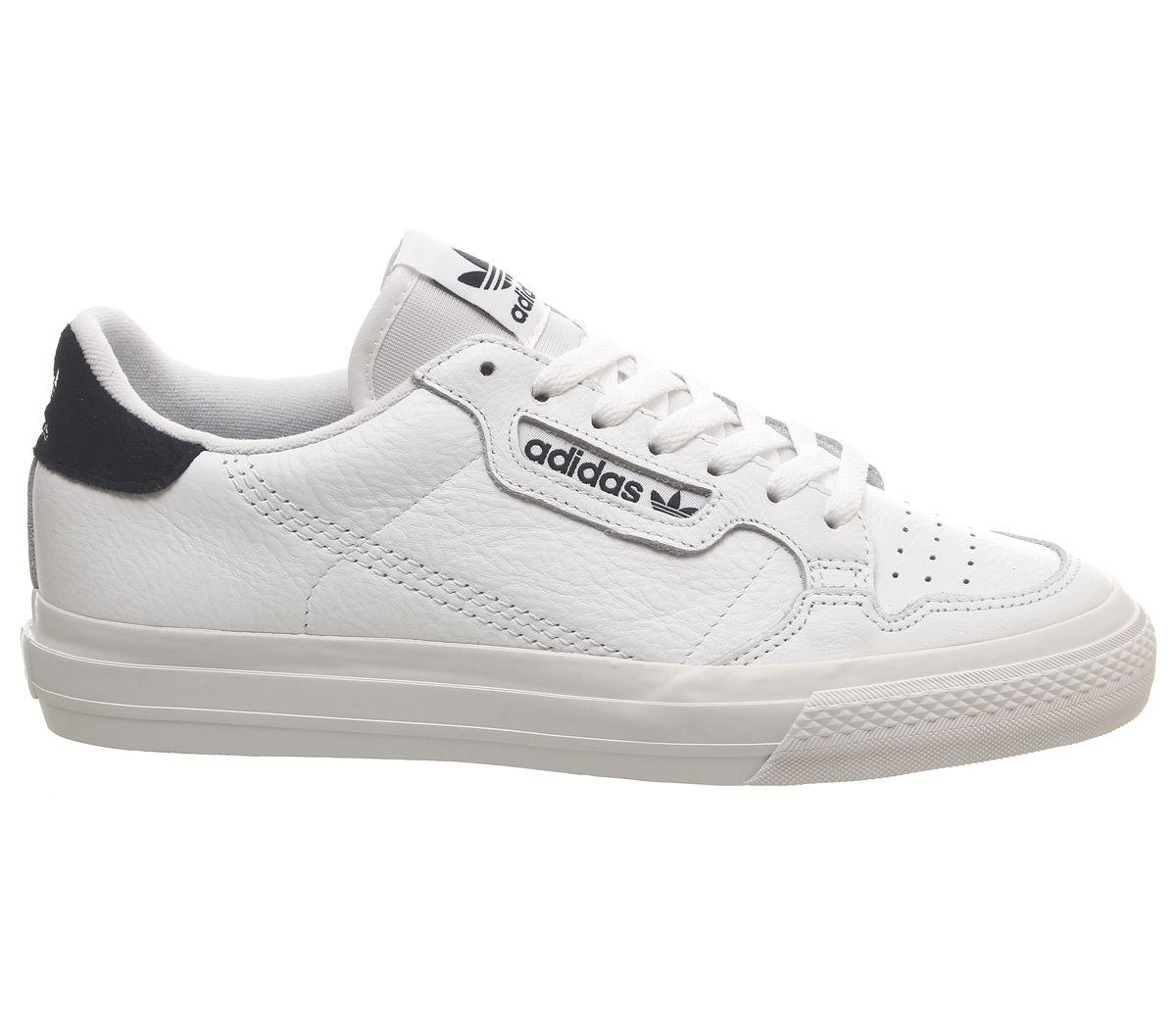 Détails sur Adidas Continental Vulc Baskets Blanc Collégial Marine Baskets