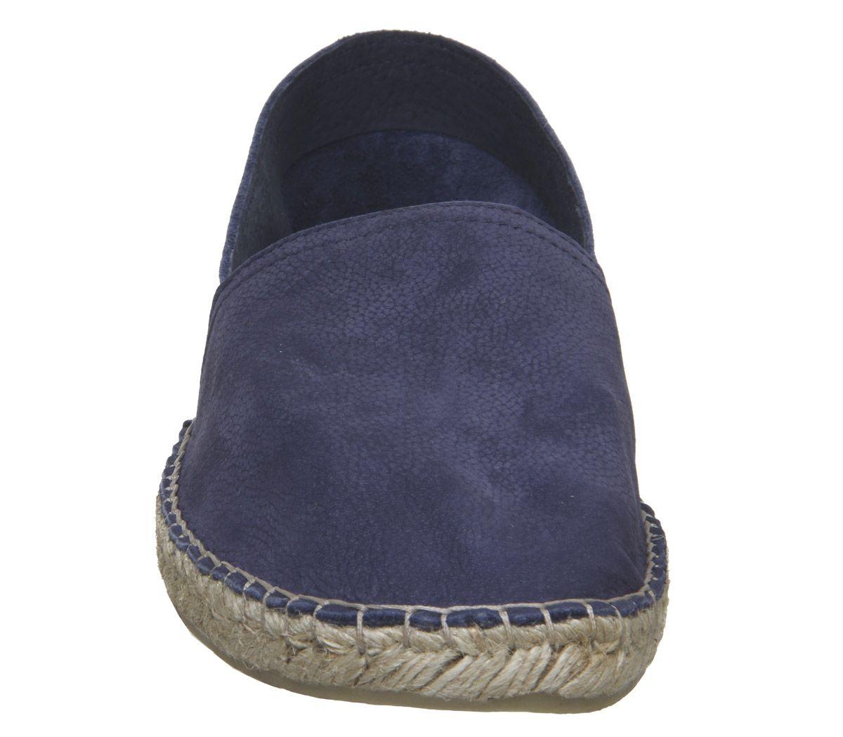 Mens-Office-Luca-Espadrilles-Navy-Nubuck-Casual-Shoes thumbnail 3