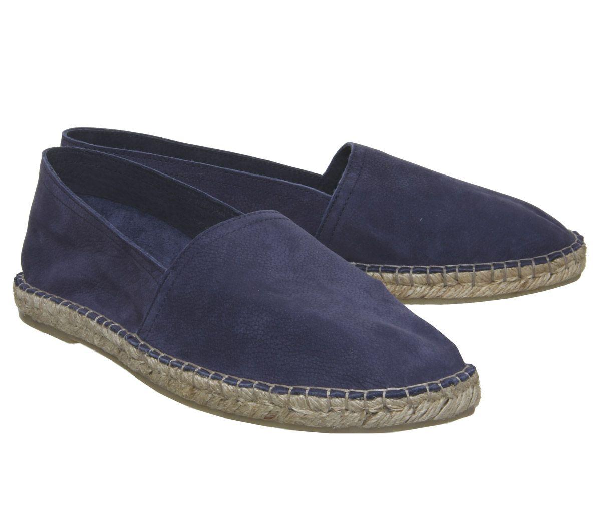 Mens-Office-Luca-Espadrilles-Navy-Nubuck-Casual-Shoes thumbnail 7