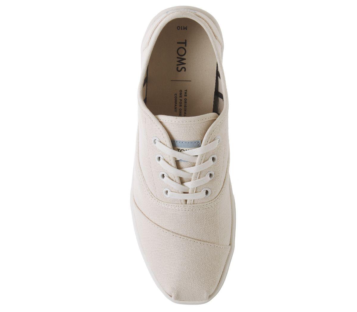 Da-Uomo-Toms-Cordones-Scarpe-da-ginnastica-Naturale-Scarpe-Casual miniatura 5
