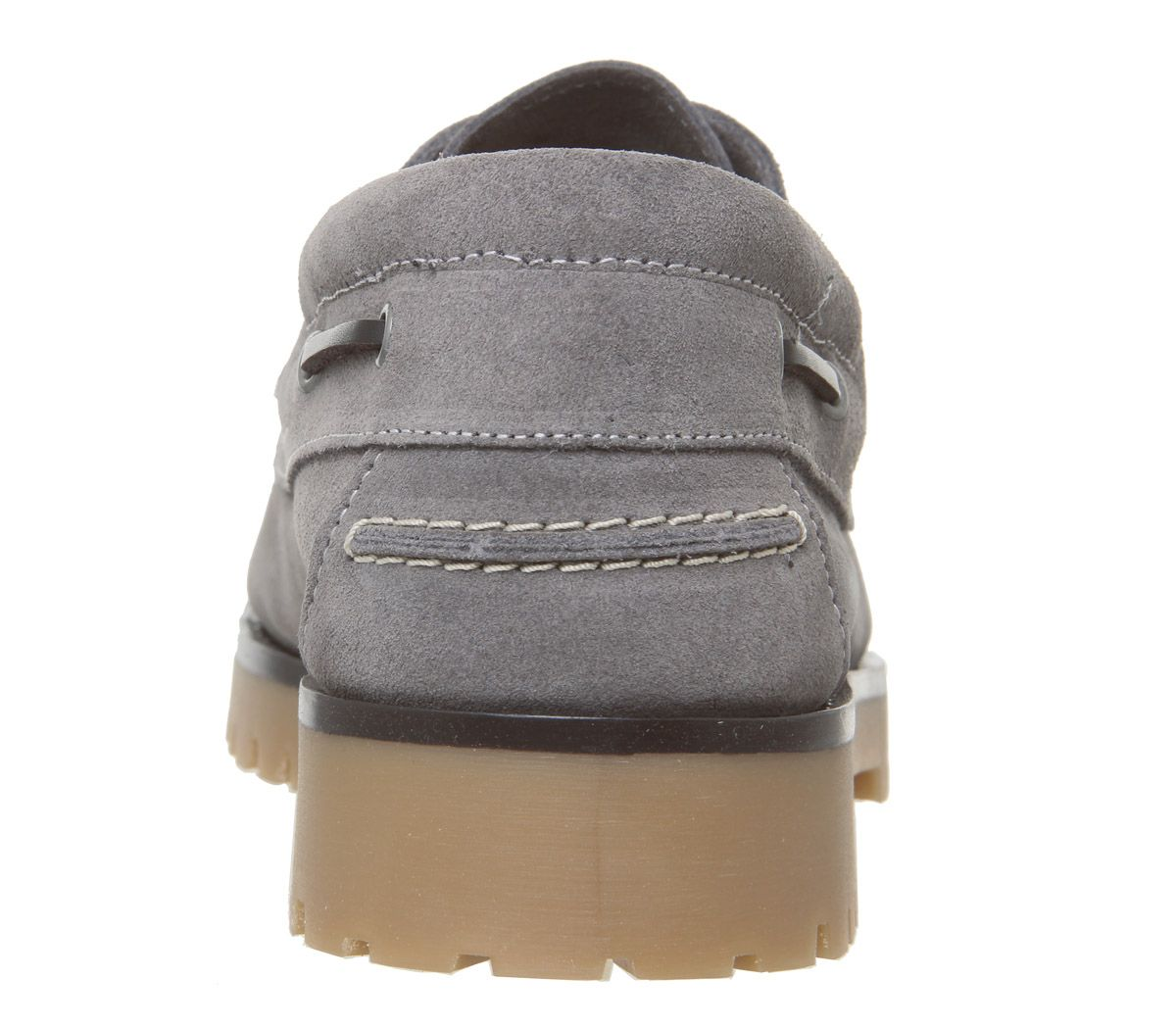 Mens-Office-Lug-Boat-Shoes-Grey-Suede-Casual-Shoes thumbnail 4