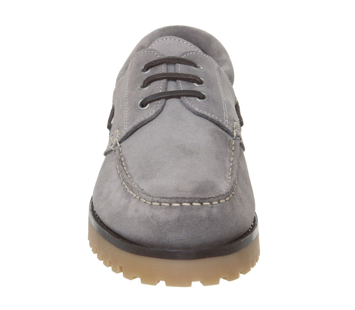 Mens-Office-Lug-Boat-Shoes-Grey-Suede-Casual-Shoes thumbnail 3