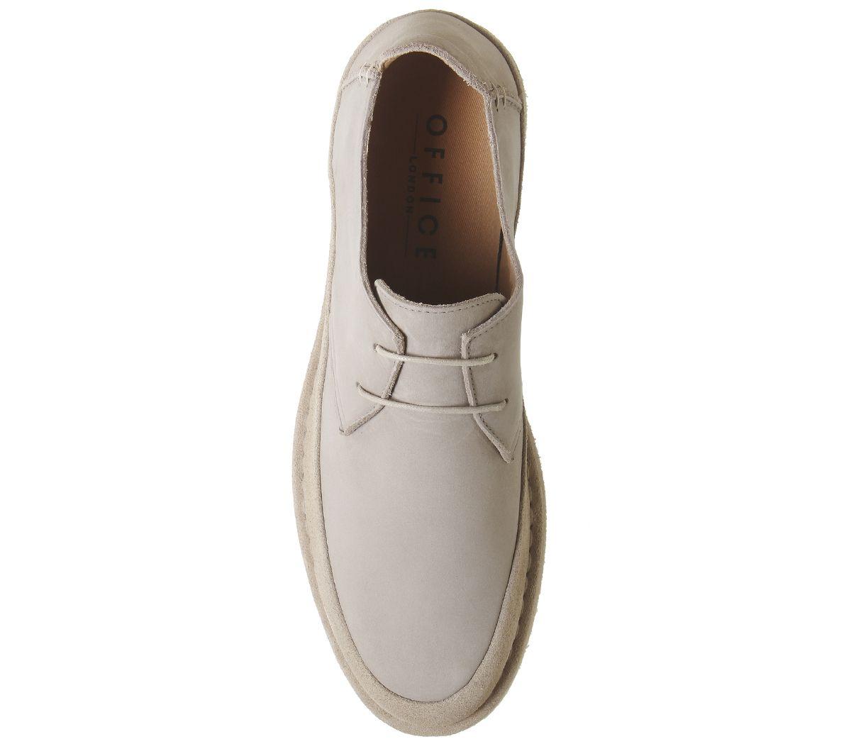 Mens-Office-Lark-Derby-Lace-Up-Shoes-Beige-Nubuck-Casual-Shoes thumbnail 5