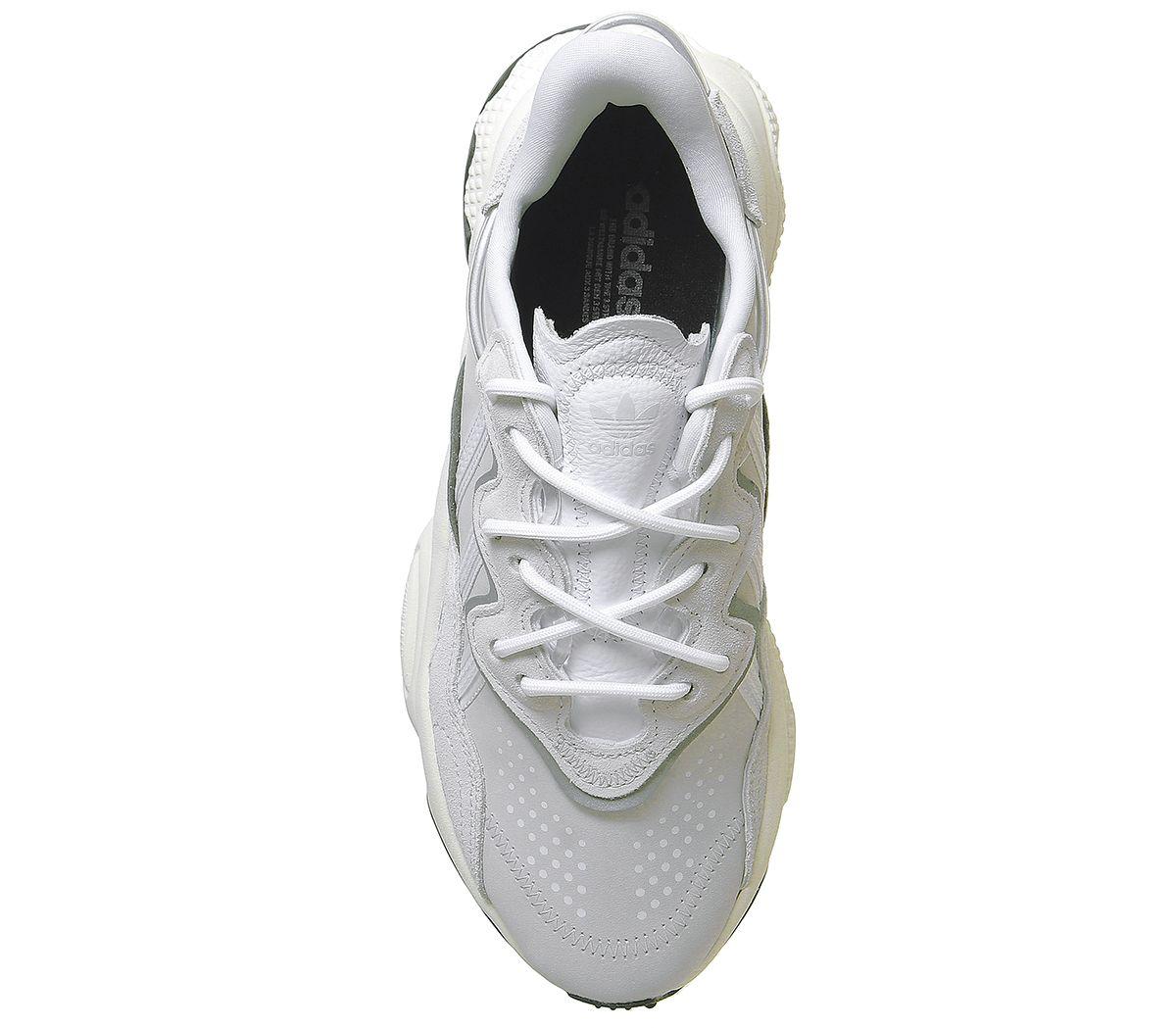 Adidas-ozweego-Baskets-Blanc-Cristal-Blanc-casse-Baskets-Chaussures miniature 5
