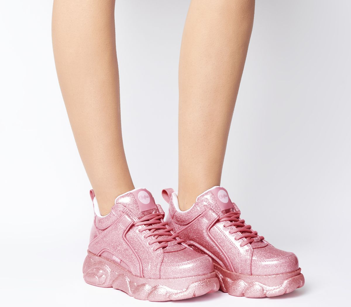aa86c3b2679b2 Details about Womens Buffalo Corin Sneakers Pink Trainers Shoes