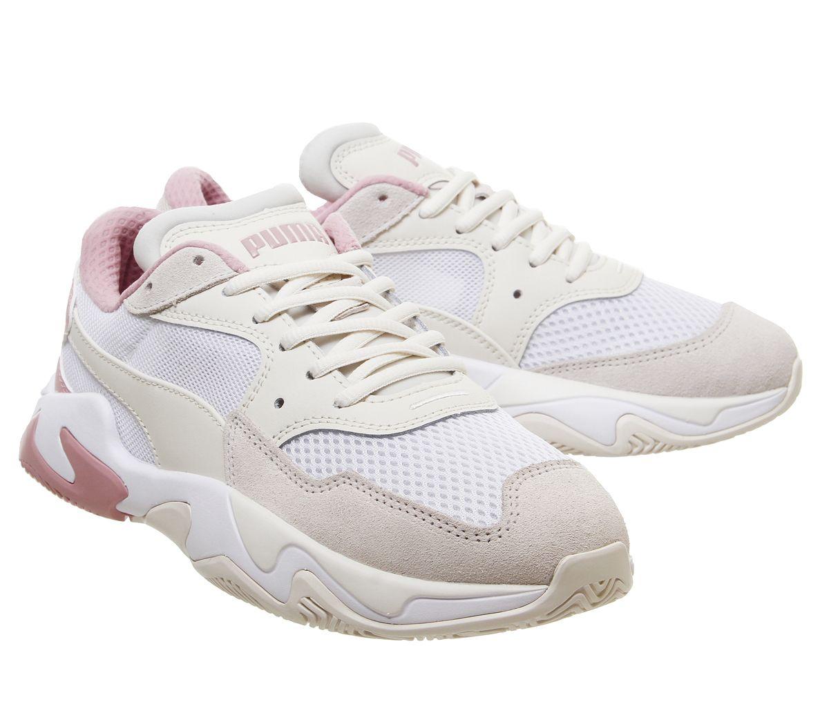 Chaussures-femme-PUMA-Storm-Baskets-Pastel-parchemin-PUMA-Blanc-Baskets-Chaussures miniature 6