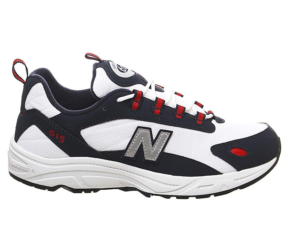 Dettagli su Da Uomo Scarpe da ginnastica New Balance 615 Scarpe da ginnastica Navy Red mostra il titolo originale