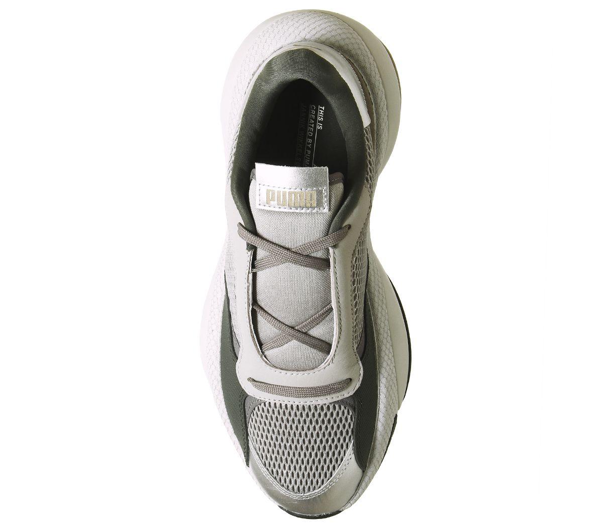 Puma-Alteration-Baskets-Puma-Silver-calcaire-Baskets-Chaussures miniature 3