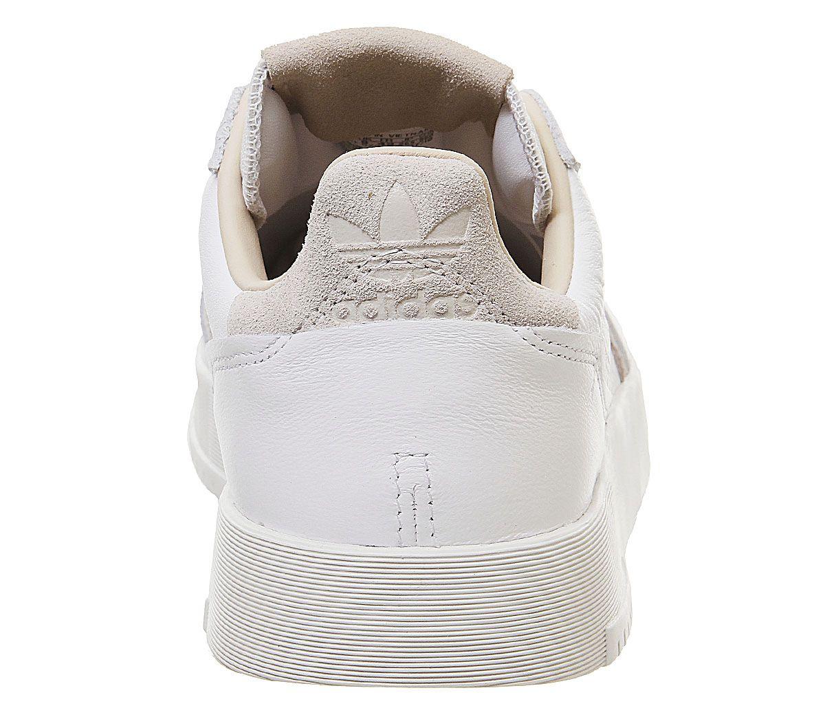 Adidas-Supercourt-Baskets-Blanc-Cristal-Blanc-Baskets-Chaussures miniature 4