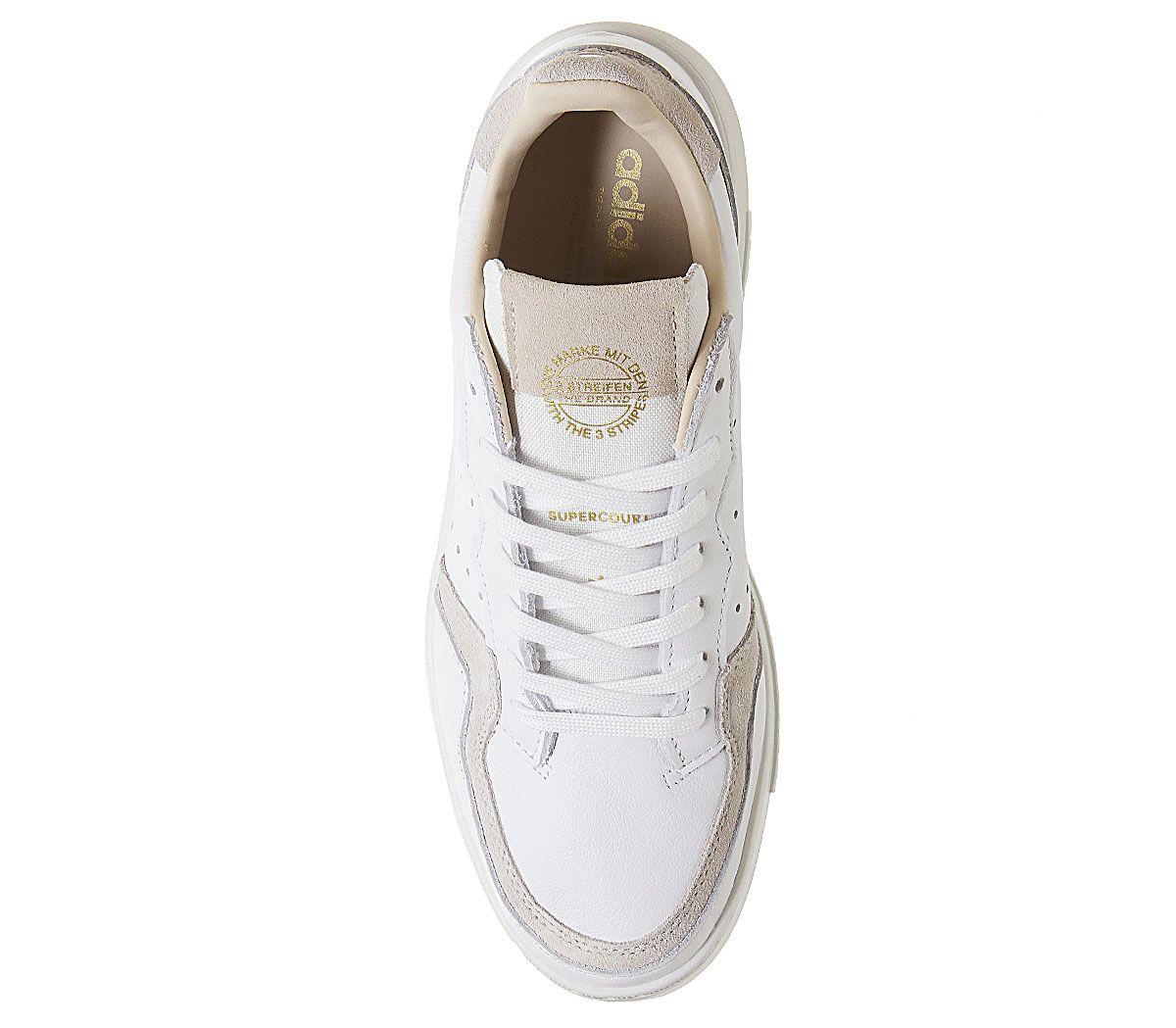 Adidas-Supercourt-Baskets-Blanc-Cristal-Blanc-Baskets-Chaussures miniature 5