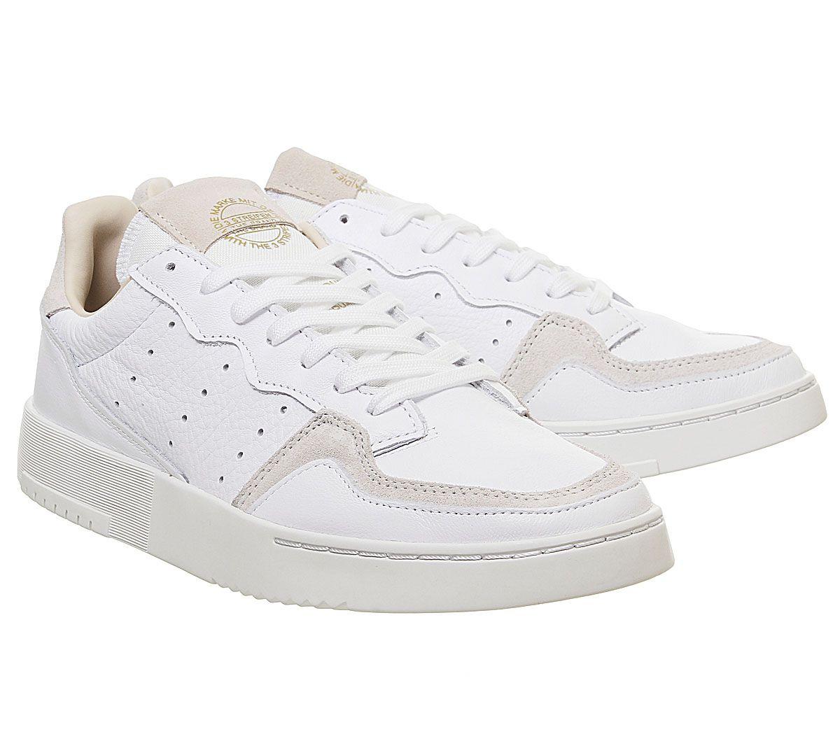 Adidas-Supercourt-Baskets-Blanc-Cristal-Blanc-Baskets-Chaussures miniature 7