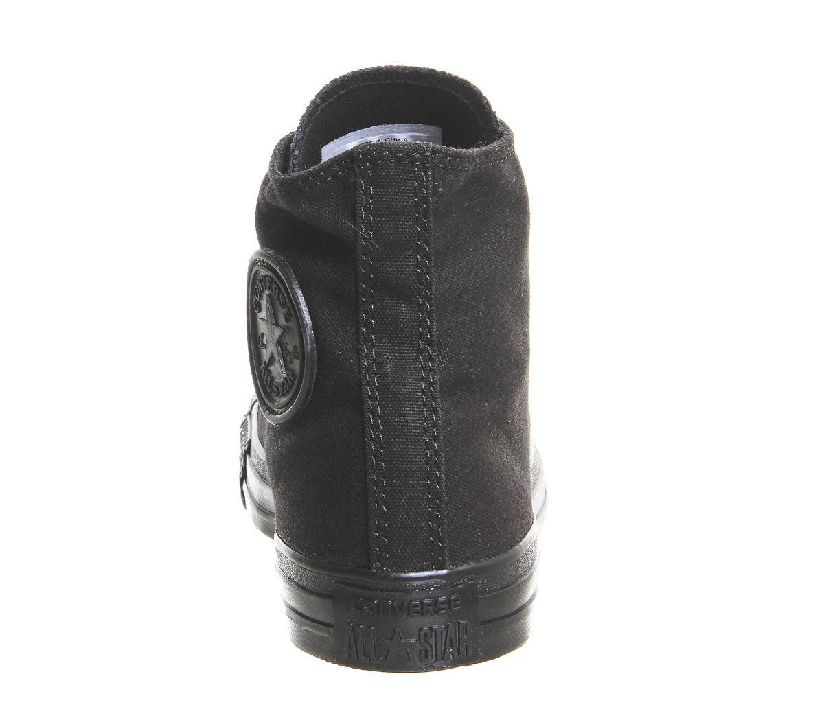 Womens-Converse-All-Star-Hi-Flash-Black-Mono-Trainers-Shoes thumbnail 3