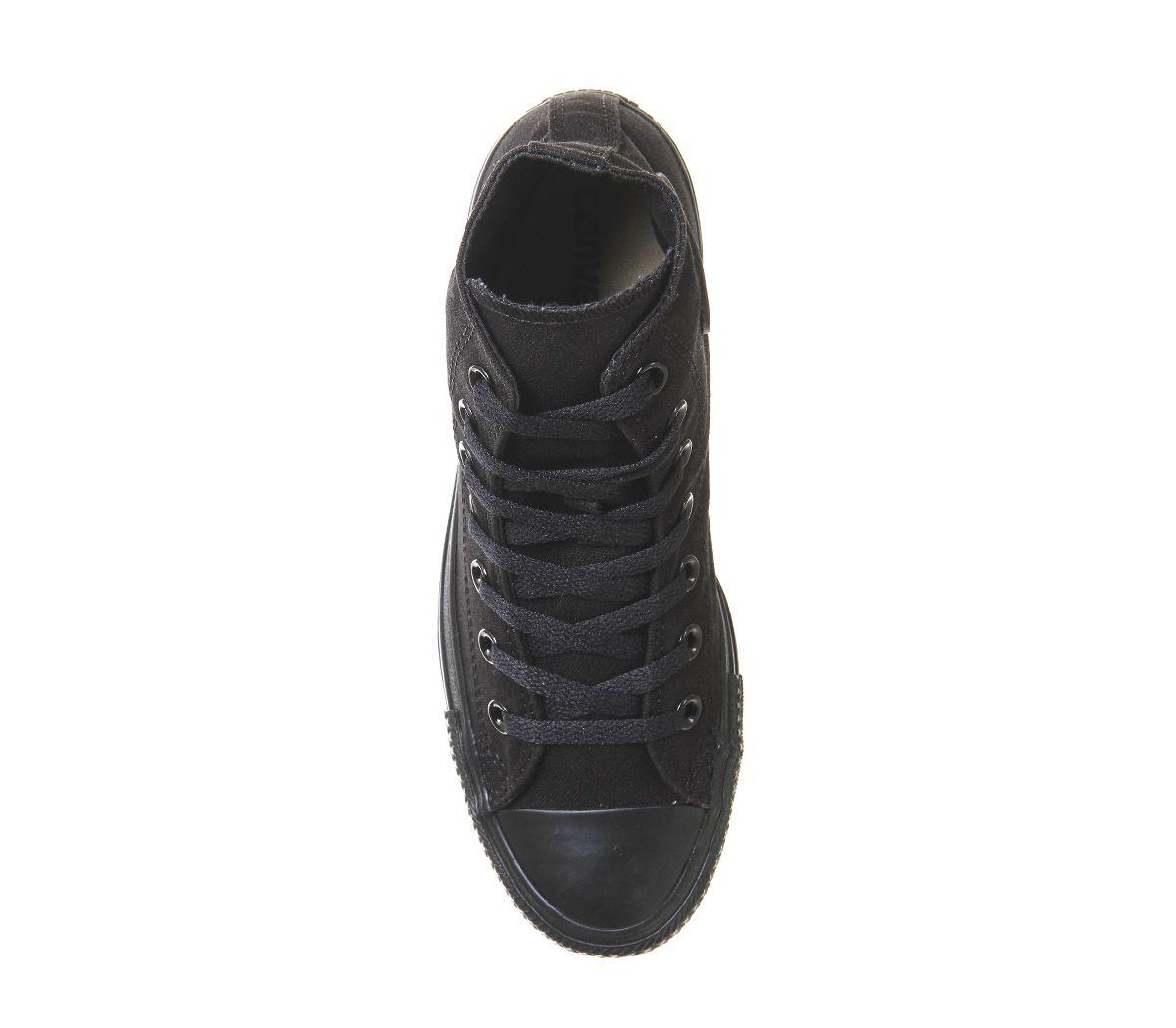 Womens-Converse-All-Star-Hi-Flash-Black-Mono-Trainers-Shoes thumbnail 4