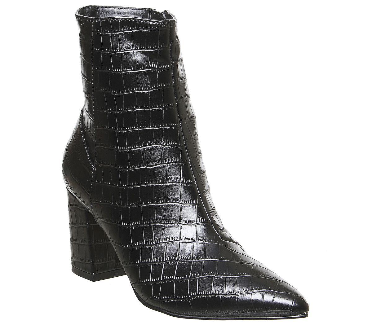 Womens Office Allure Pointed Block Heel